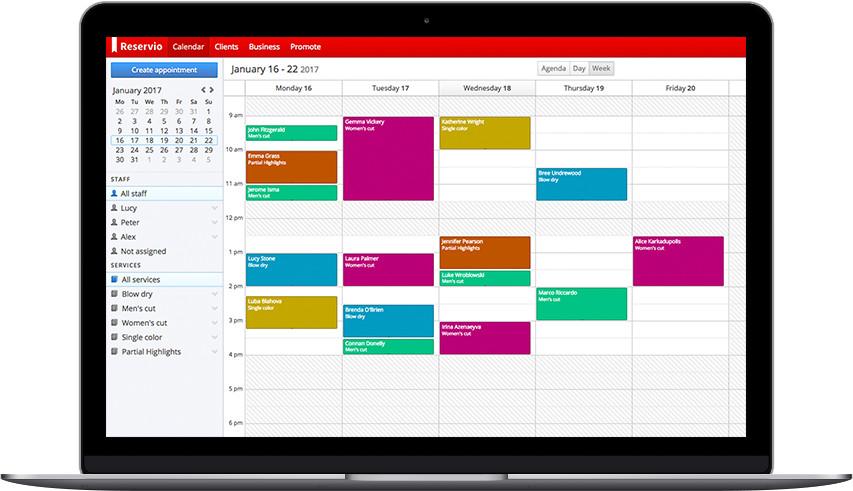 online scheduling calendar reservio reservio